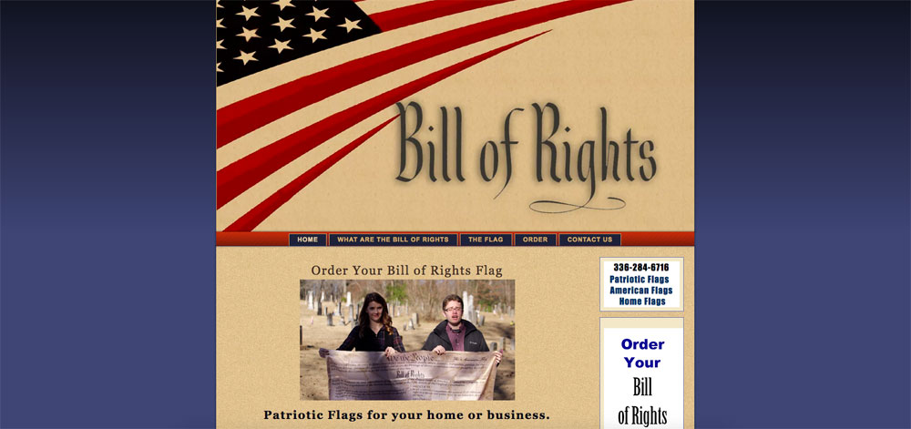Bill of Rights Flag
