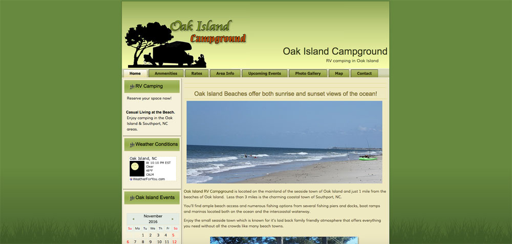 Oak Island Campground