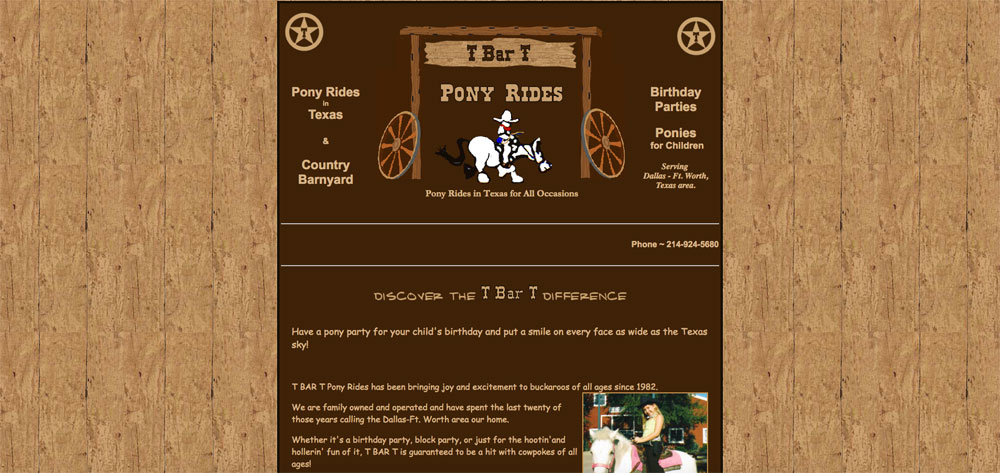 T Bar T Pony Rides